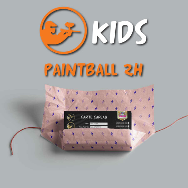 carte cadeau paintball enfant 2h